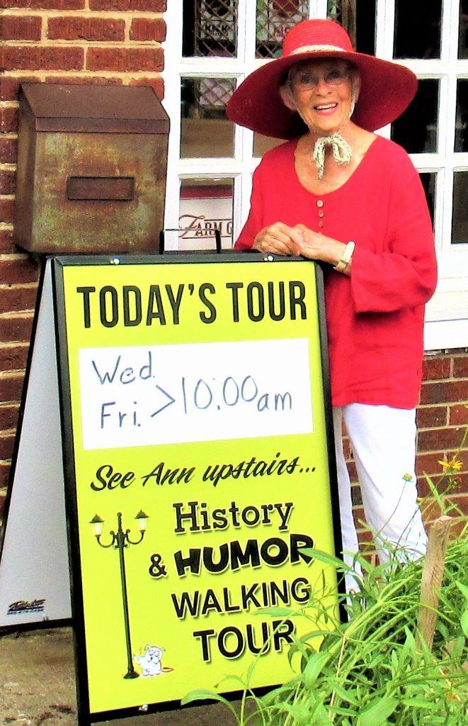 Ann Berdeen, tour guide for Burnsville walking tours.